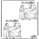 Bibel Ausmalbilder - Suche die 10 Unterschiede Naaman