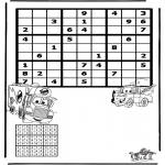 Malvorlagen Basteln - Sudoku Cars