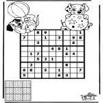 Malvorlagen Basteln - Sudoku Dalmatiner