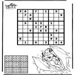 Malvorlagen Basteln - Sudoku Delfin