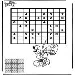Malvorlagen Basteln - Sudoku Diddl 1