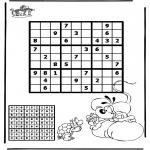 Malvorlagen Basteln - Sudoku Diddl 2