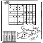 Malvorlagen Basteln - Sudoku Flugzeug