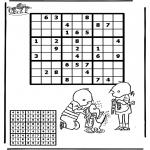 Malvorlagen Basteln - Sudoku Jip und Janneke