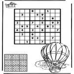 Malvorlagen Basteln - Sudoku Luftballon