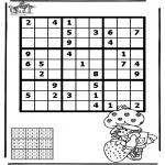 Malvorlagen Basteln - Sudoku Mädchen