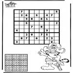 Malvorlagen Basteln - Sudoku Pirat
