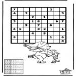 Malvorlagen Basteln - Sudoku Schlittschuhlaufen