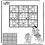 Malvorlagen Basteln - Sudoku Schneewittchen