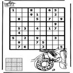 Malvorlagen Basteln - Sudoku Vogel