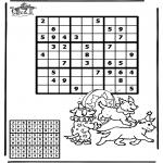 Malvorlagen Basteln - Sudoku Zirkus