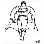 Ausmalbilder Comicfigure - Superman 1