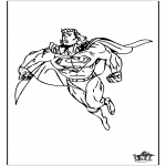 Ausmalbilder Comicfigure - Superman 2