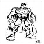 Ausmalbilder Comicfigure - Superman 4