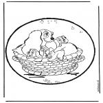 Basteln Stechkarten - Susi und Strolch