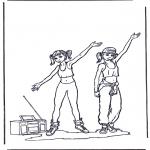 Allerhand Ausmalbilder - Tanzen 2