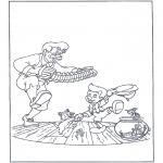 Ausmalbilder Comicfigure - Tanzender Pinokkio