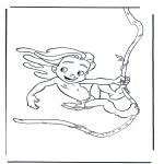 Ausmalbilder Comicfigure - Tarzan 3