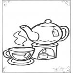 Ausmalbilder für Kinder - Tasse Tee