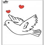 Ausmalbilder Tiere - Taube 1