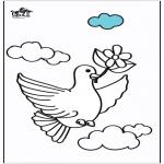 Ausmalbilder Tiere - Taube 2