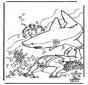 Taucher und Hai