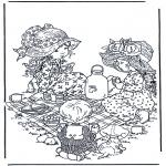 Allerhand Ausmalbilder - Teekränzchen