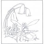 Allerhand Ausmalbilder - Teevisite von Elfen