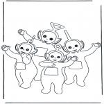 Ausmalbilder für Kinder - Teletubbies