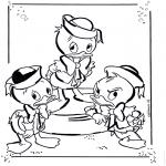 Ausmalbilder Comicfigure - Tick, Trick und Track 1