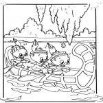 Ausmalbilder Comicfigure - Tick, Trick und Track 3