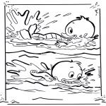 Ausmalbilder Comicfigure - Tick und Track