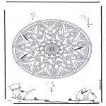 Malvorlagen Mandalas - Tiere Geomandala 2