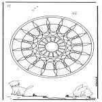 Malvorlagen Mandalas - Tiere Geomandala 4