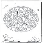 Malvorlagen Mandalas - Tiere Geomandala 6