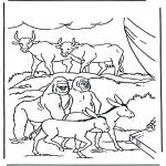 Bibel Ausmalbilder - Tiere in der Arche