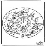 Malvorlagen Mandalas - Tiere Mandala 1