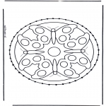 Basteln Stickkarten - Tiere Mandala