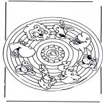 Malvorlagen Mandalas - Tieremandala 2