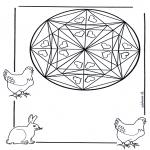 Malvorlagen Mandalas - Tieremandala 3