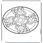 Basteln Stechkarten - Tieren Stechkarte