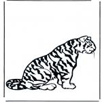 Ausmalbilder Tiere - Tiger 2