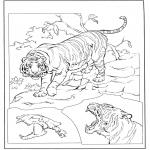 Ausmalbilder Tiere - Tiger 3