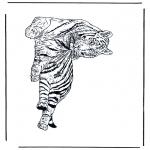 Ausmalbilder Tiere - Tiger