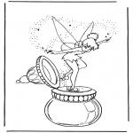 Ausmalbilder Comicfigure - Tinkerbel 1