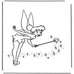 Ausmalbilder Comicfigure - Tinkerbel 2