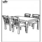 Allerhand Ausmalbilder - Tisch