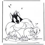 Ausmalbilder Comicfigure - Tom und Jerry 1