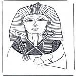 Allerhand Ausmalbilder - Totenmaske von Pharao