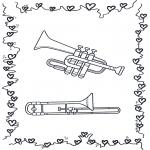 Allerhand Ausmalbilder - Trompet und Posaune